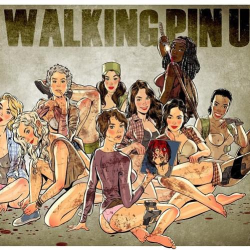 Personagens de The Walking Dead se transformam em lindas pinups
