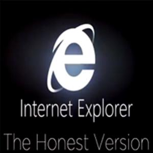 Versão honesta do comercial do Internet Explorer 9, será?