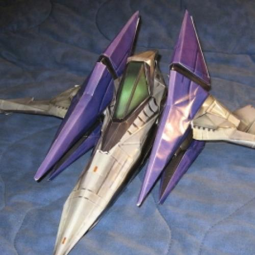 ArWing do game StarFox é o papercraft da semana!