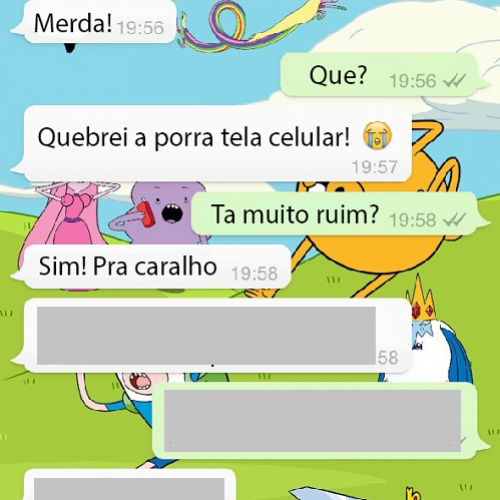 Quebrei a tela do meu celular....
