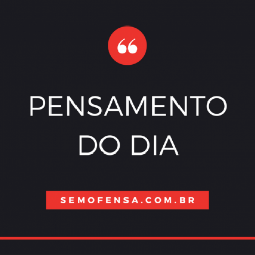 Pensamento do dia #2 – Imagine ele