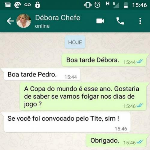 A Resposta do Chefe !