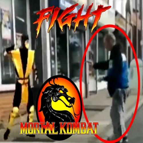 Mortal Kombat da vida real - Scorpion vs Bêbado